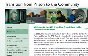 Transition from Prison to the Community